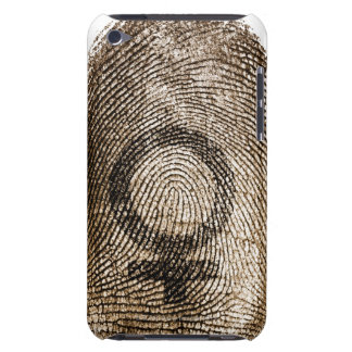 thumbprintの女性の印 Case-Mate iPod touch ケース
