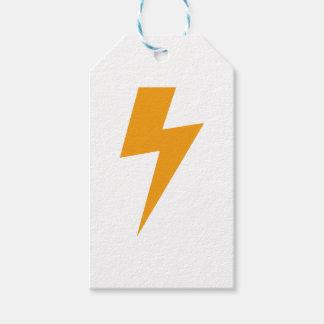 Thunder Energy Yellow Print ギフトタグ