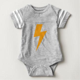 Thunder Energy Yellow Print ベビーボディスーツ
