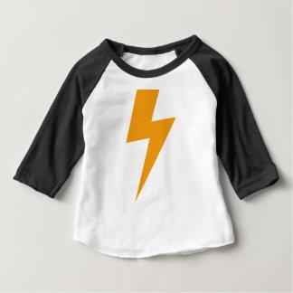 Thunder Energy Yellow Print ベビーTシャツ