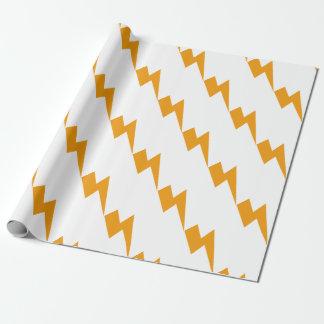 Thunder Energy Yellow Print ラッピングペーパー