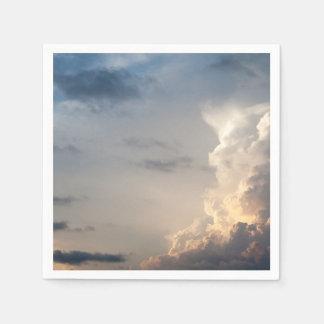 Thunderheadの雲の天国の空の雨雲 スタンダードカクテルナプキン