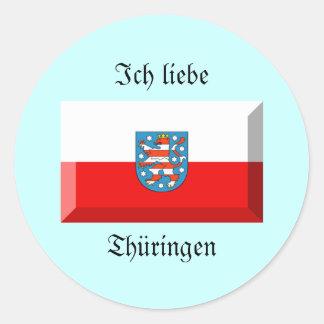Thuringenの旗の宝石 ラウンドシール
