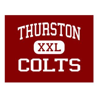 Thurston -子馬-高スプリングフィールドオレゴン ポストカード