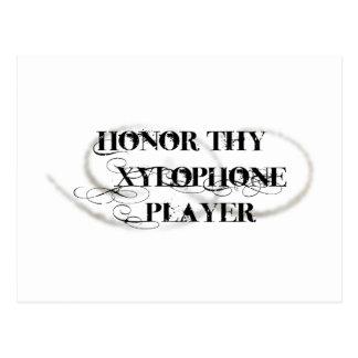 Thy木琴プレーヤーに名誉を与えて下さい ポストカード