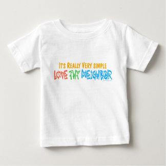 Thy隣人を愛して下さい ベビーTシャツ