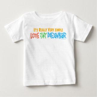 Thy隣人-ハート、ピースサイン--を愛して下さい ベビーTシャツ