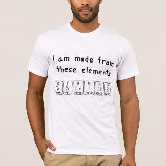 Tiberiusの周期表の名前のワイシャツ Tシャツ