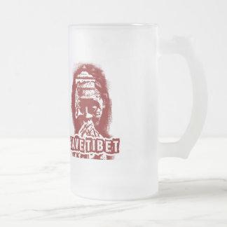 TIBET~を救って下さい! チベットを放して下さい! フロストグラスビールジョッキ