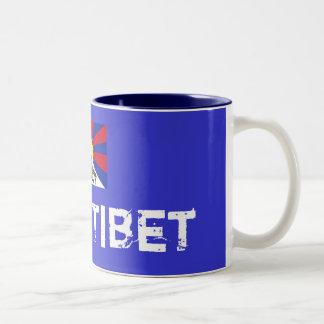 tibetflag、自由なチベット ツートーンマグカップ