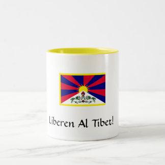 tibetflag、LiberenのAlチベット! ツートーンマグカップ