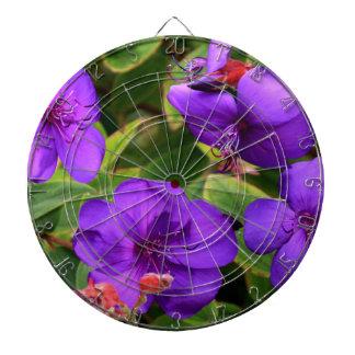 Tibouchinaの紫色の花 ダーツボード