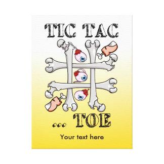 Tic TACのつま先の無価値および十字 キャンバスプリント