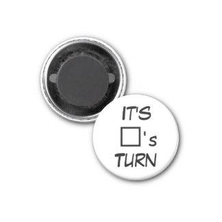 """Tic TACのつま先1-1/4の""""冷蔵庫用マグネットの~の正方形の回転 マグネット"""