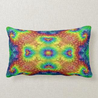 Tie Dye Sky Kaleidoscope Pattern Lumbar Pillows ランバークッション