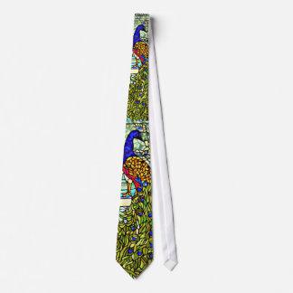 Tiffanyのステンドグラスの孔雀のタイ ネクタイ