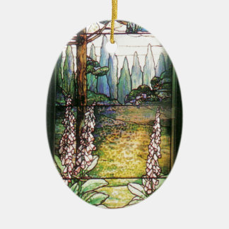Tiffanyのステンドグラスの自然のオーナメント セラミックオーナメント