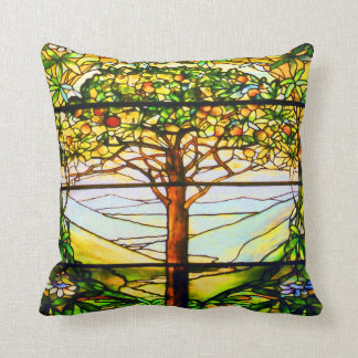 Tiffanyの精神的な窓の景色の木の景色 クッション