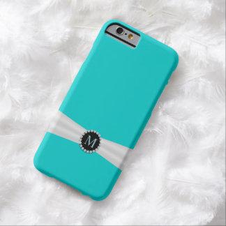 Tiffanyの青いモノグラムのiPhone 6/6Sの箱 Barely There iPhone 6 ケース