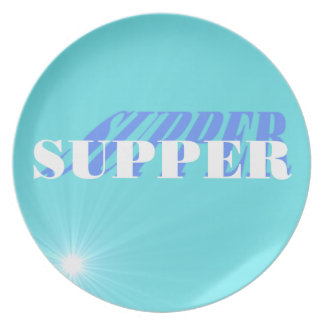 Tiffanyの青い夕食のプレートを組み合わせて下さい プレート