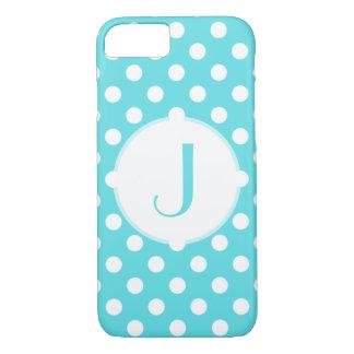 Tiffanyの青い水玉模様のモノグラムのなiPhone 7の場合 iPhone 8/7ケース