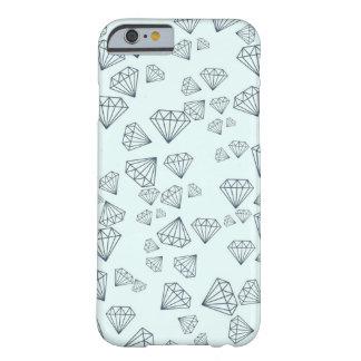 Tiffanyの青く幾何学的なダイヤモンドのiPhone6ケース Barely There iPhone 6 ケース