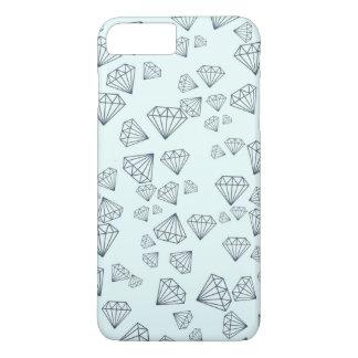 Tiffanyの青く幾何学的なダイヤモンドのiPhone 7のプラスの場合 iPhone 8 Plus/7 Plusケース