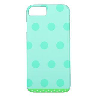 Tiffanyの青の水玉模様 iPhone 8/7ケース