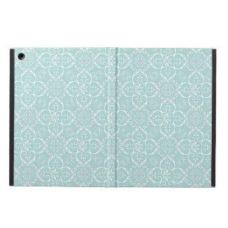 Tiffanyの青及び白いダマスク織パターン