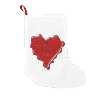 Tiffany。 一流のTiffanyの赤いハートのワックスのシール スモールクリスマスストッキング