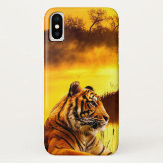 Tiger and Sunset iPhone X ケース