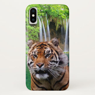 Tiger and Waterfall iPhone X ケース