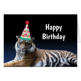 Tiger Let's Party Birthday カード