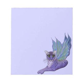 Tigerpixieの妖精のトラのファンタジー猫の芸術のメモ帳 ノートパッド