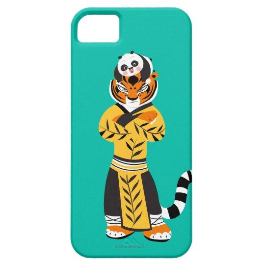 Tigressおよび赤ん坊のパンダ iPhone SE/5/5s ケース