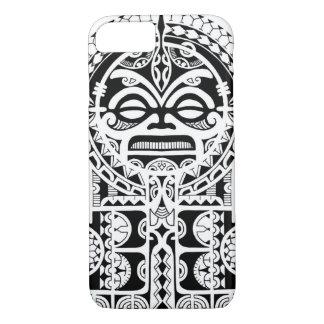 tikiのマスクとのポリネシアの種族の入れ墨のデザイン iPhone 8/7ケース