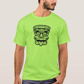 tikiのマスクのハワイ州人の芸術 tシャツ