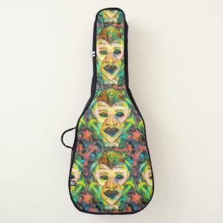 TIKIのマスクの熱帯賢く、深刻なギター ギターケース