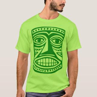 TikiのマスクIII -緑 Tシャツ