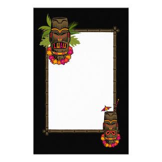 Tikiのルアウ(ハワイ式宴会) 便箋