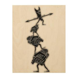 Tikiの冒険 ウッドウォールアート