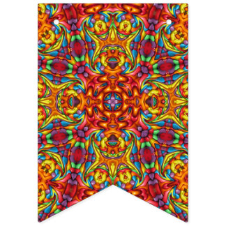 Tikiの気紛れな万華鏡のように千変万化するパターン バンティングフラッグ