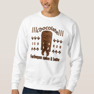 Tikiのchocoの白 スウェットシャツ