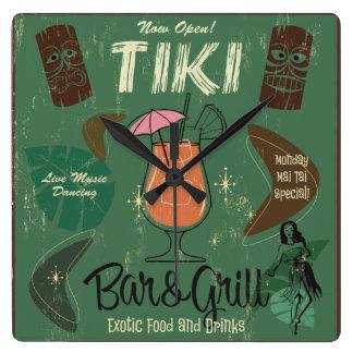 Tiki Bar&Grillの柱時計 スクエア壁時計
