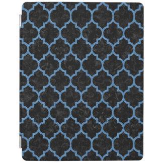 TILE1黒い大理石及び青鉛筆 iPadスマートカバー