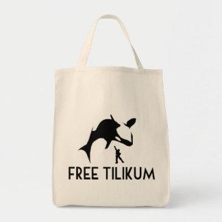 Tilikumの自由な保存シャチのシャチ トートバッグ