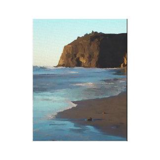 Tillamookのビーチ キャンバスプリント