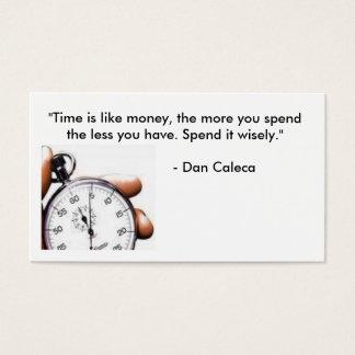 """timeeeはお金です、多くをのよう、""""時間…使います 名刺"""