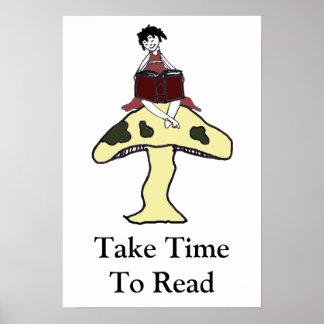 TimeToの読書を取って下さい ポスター