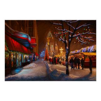 Timisoaraのクリスマスの市場 ポスター